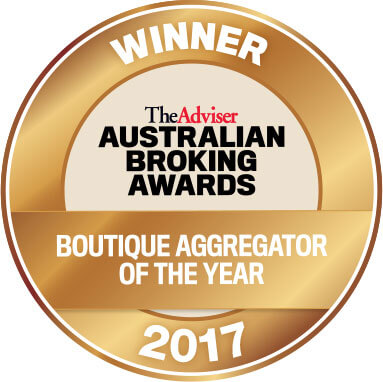 Australian Broking Awards Boutique Aggregator of the Year Winner Badge